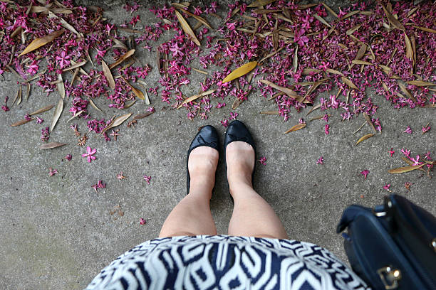 legs - flat shoe stock photos and pictures