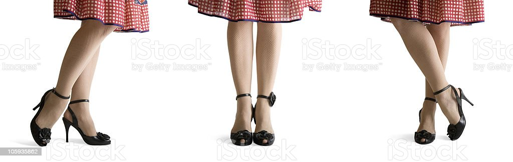 Legs Three Poses stock photo
