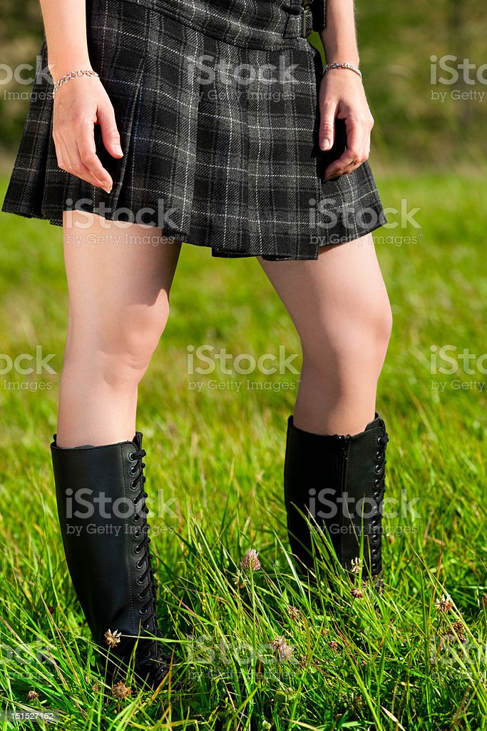 Legs with High Boots stock photo