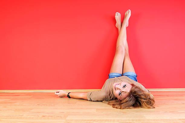 Legs-up stock photo
