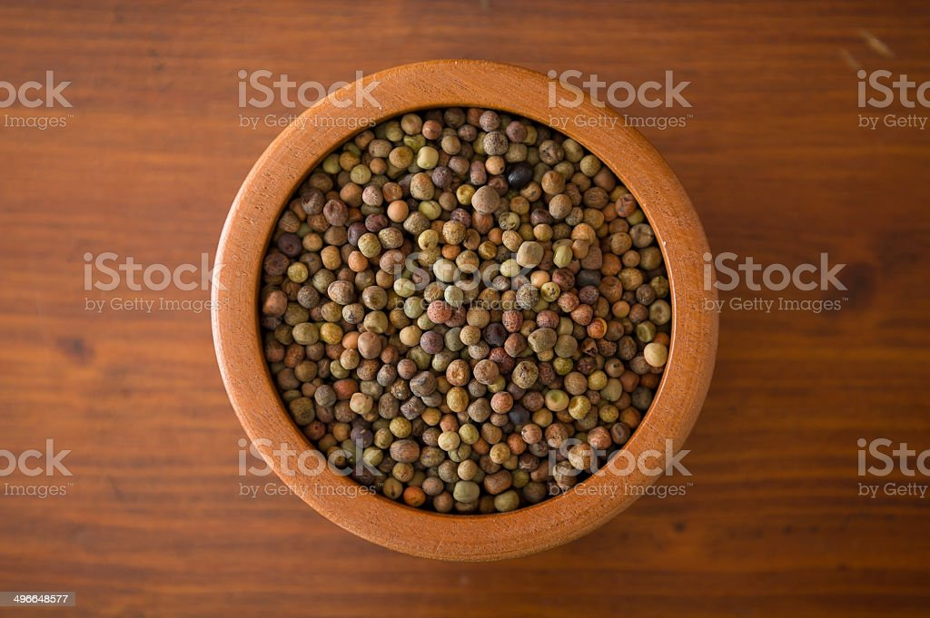 Legume Roveja in a wooden jar royalty-free stock photo