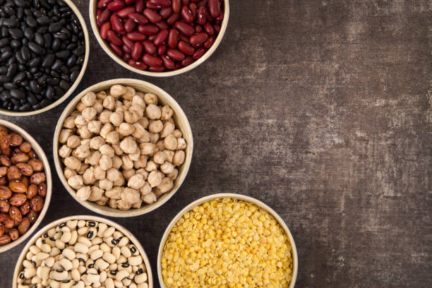 legumes and beans - bean stock photos and pictures