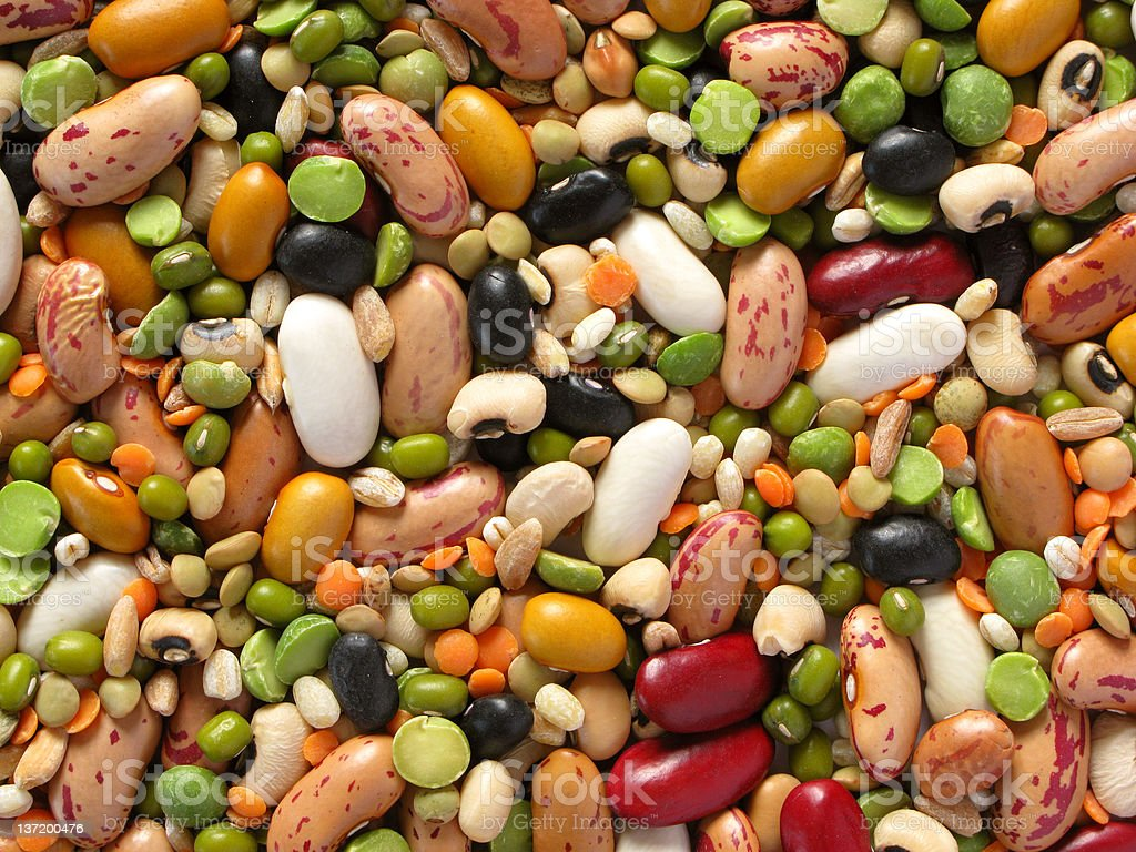legumes and cereals stock photo