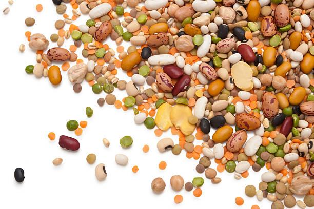 Leguminosas y cereales. - foto de stock