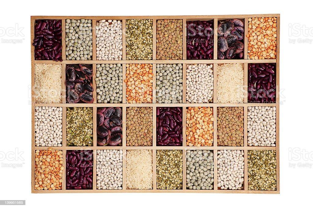 Leguminous collection. royalty-free stock photo