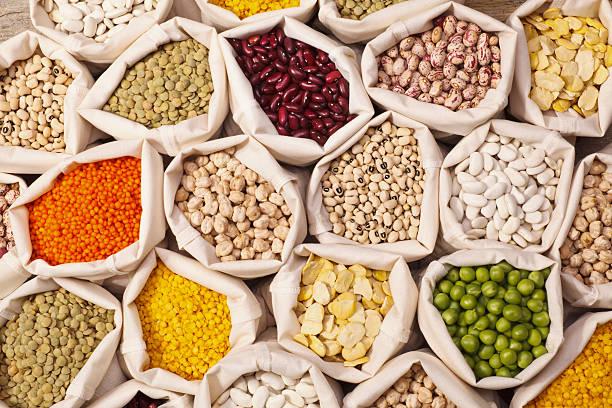 leguminous seeds collection - fasulye stok fotoğraflar ve resimler