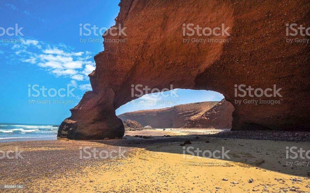 Legzira beach, Sidi Ifni, Souss-Massa-Draa, Morocco stock photo
