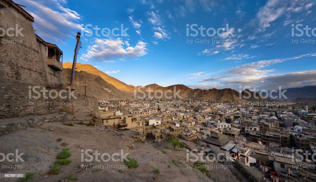 Leh City stock photo
