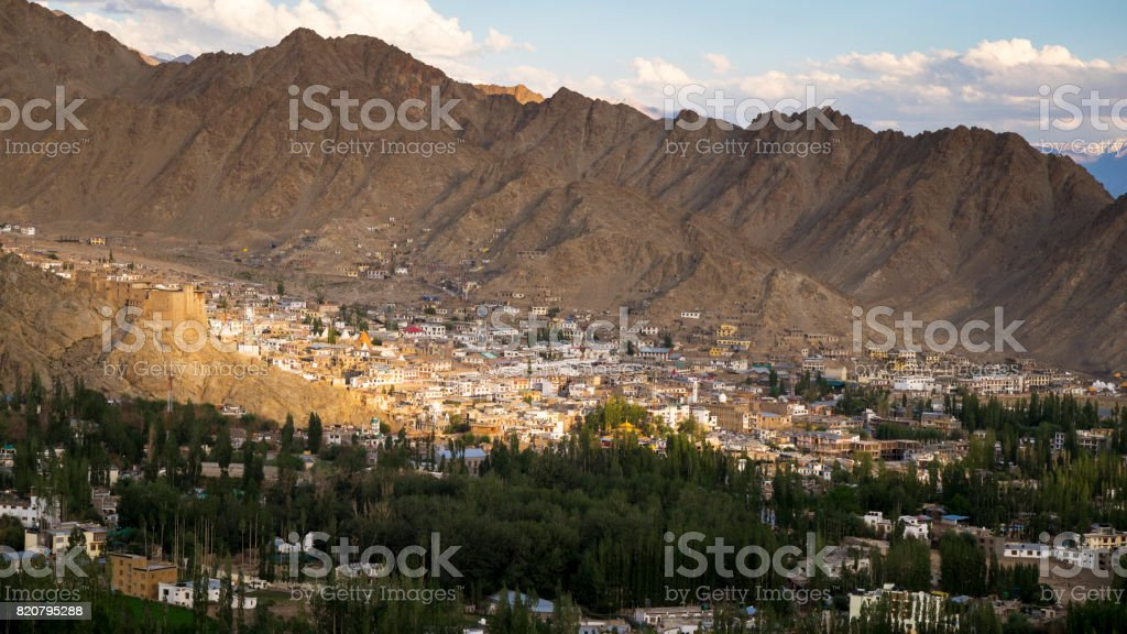 Leh Ladakh city, see view from Shanti Stupa