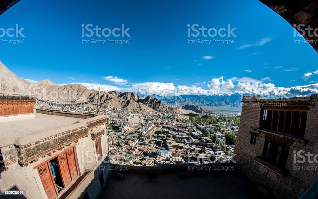 Leh Palace stock photo