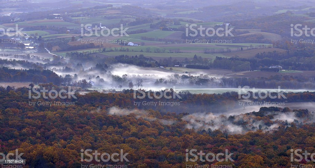 Lehigh Valley In Fall royalty-free stock photo