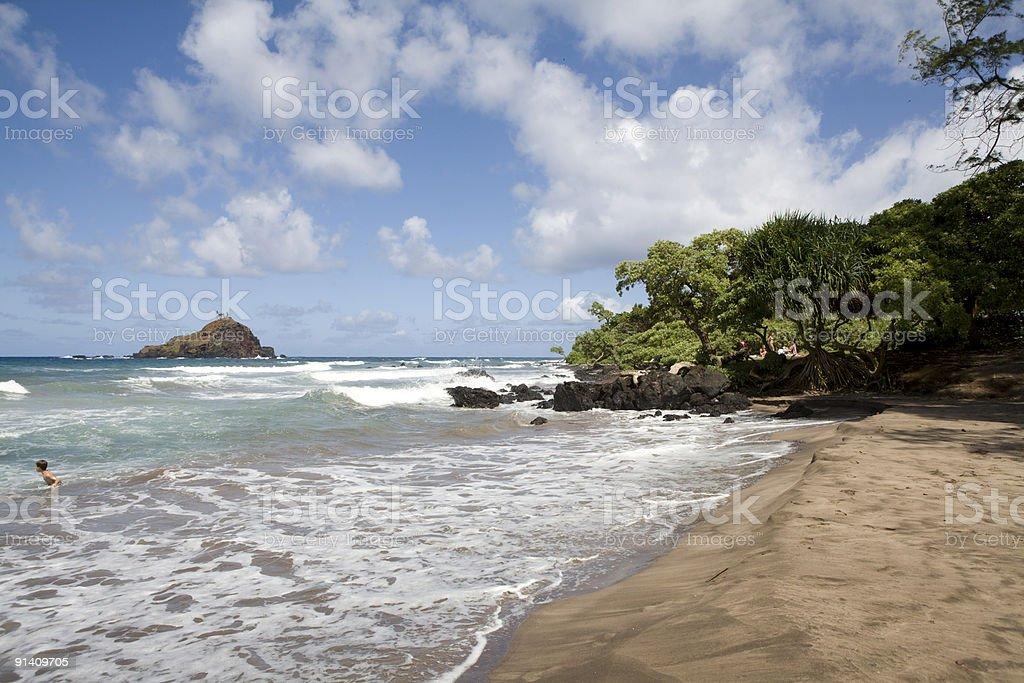 Leho'ula Beach and Alau Island Bird Sanctuary (Horizontal Orientation) stock photo