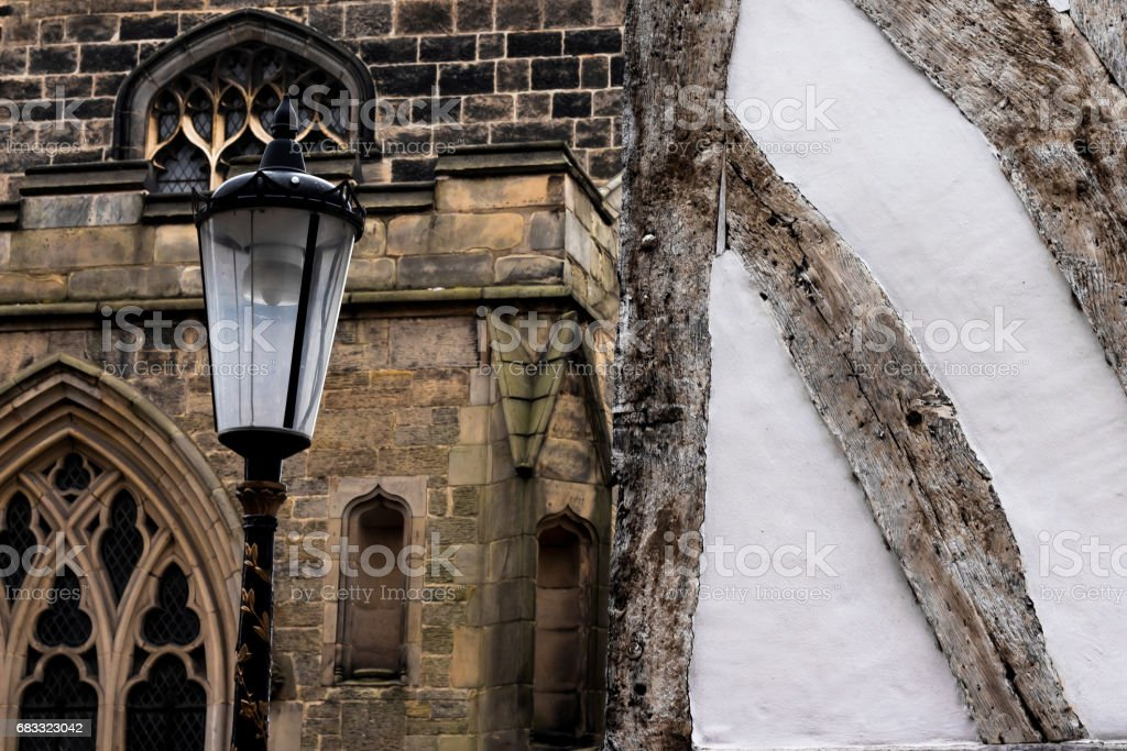 Leicester Cathedral and Guildhall royalty-free stock photo