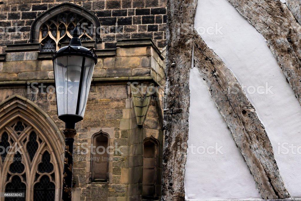 Guildhall et Cathédrale de Leicester photo libre de droits
