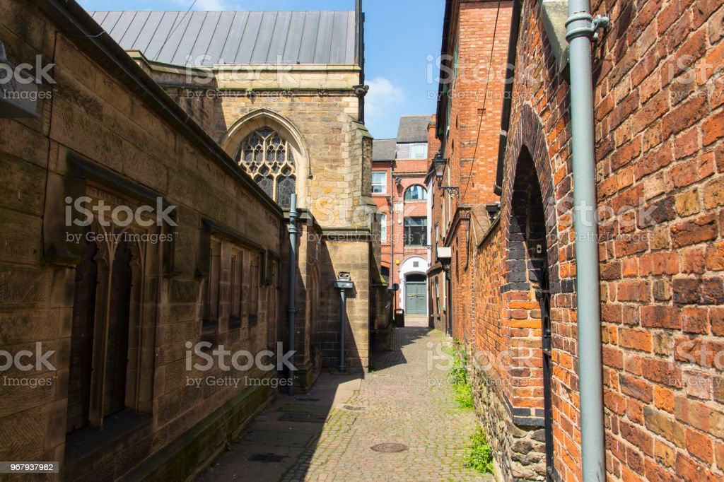 Leicester city centre stock photo