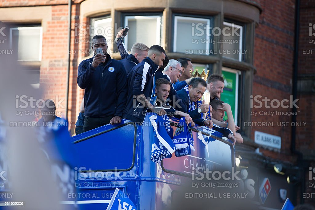 Leicester City Champions Parade 16 May 2016 stock photo