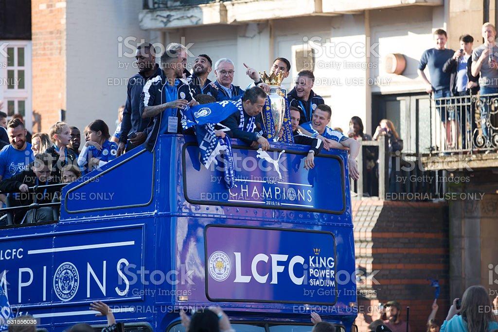 Leicester city Parade stock photo
