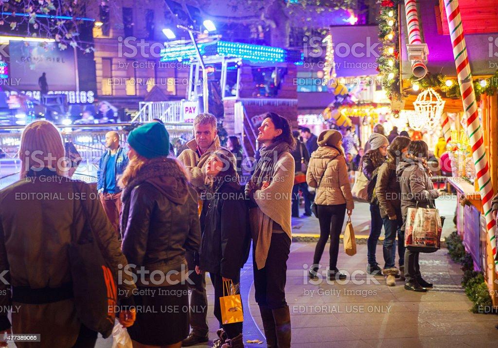 Leicester square fun fair, London stock photo