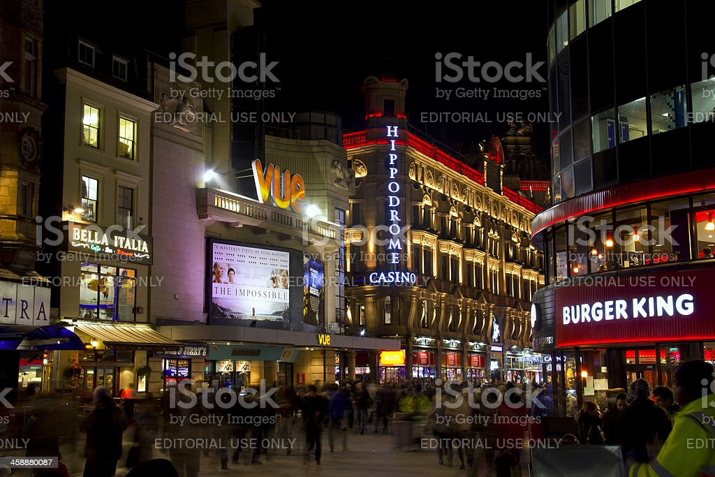 Leicester Square in London, UK stock photo