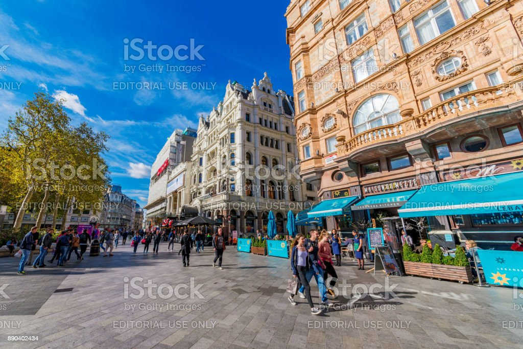Leicester Square London stock photo
