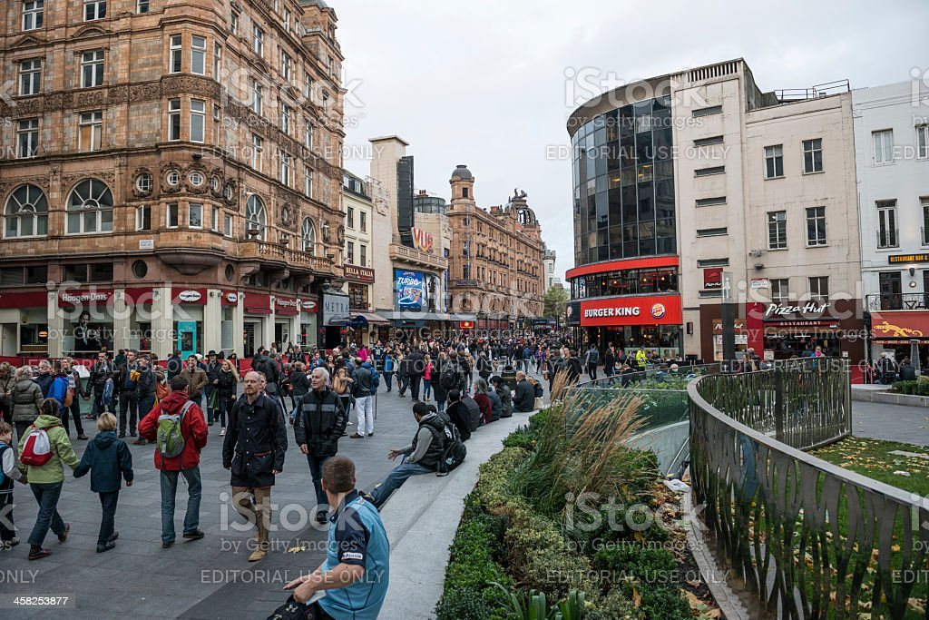 Leicester Square stock photo
