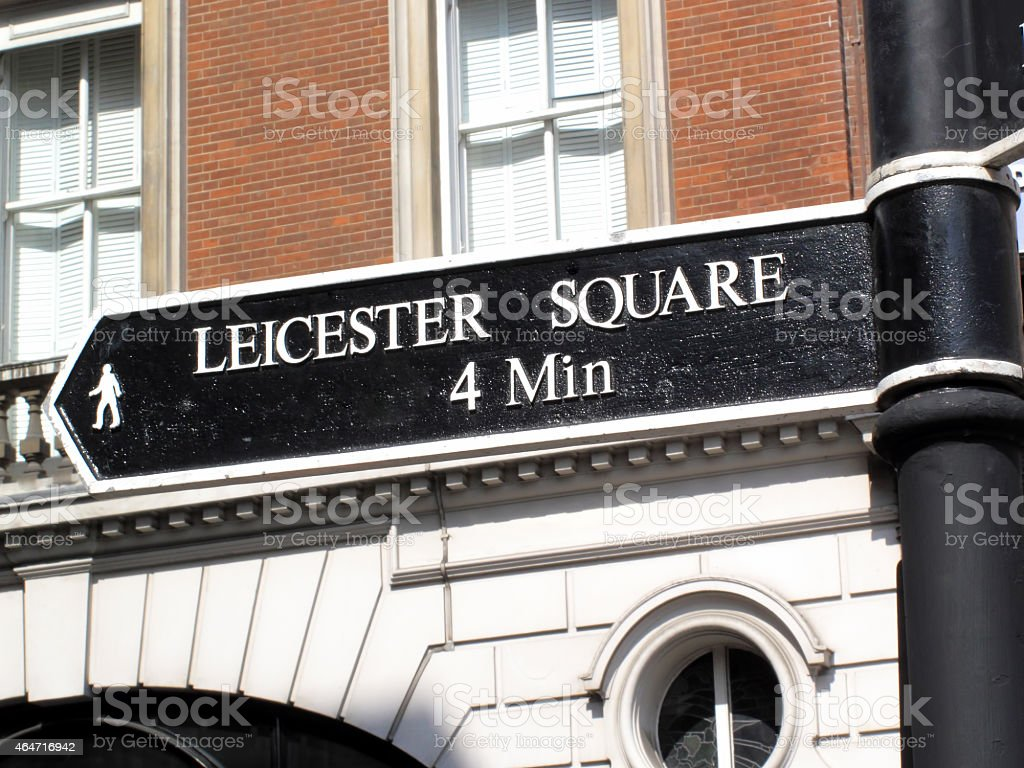 Leicester Square Signpost stock photo