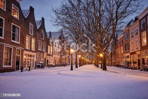 istock Leiden in snow 1313436255