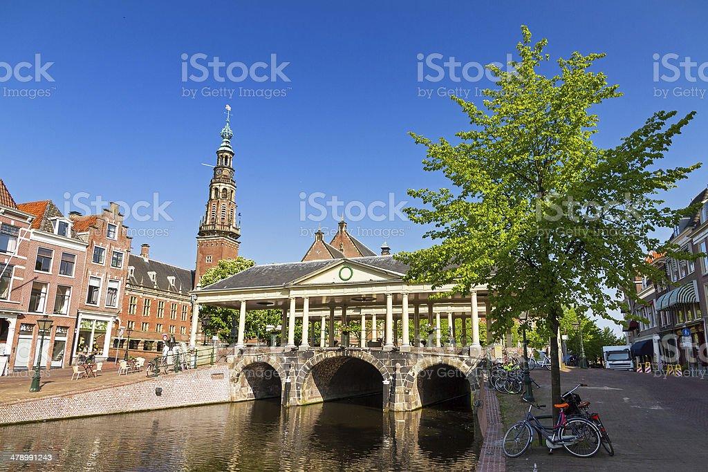 Leiden Koornbrug stock photo
