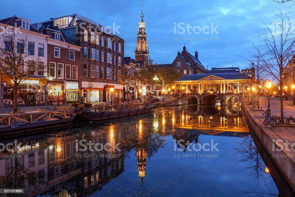 Leiden, The Netherlands stock photo