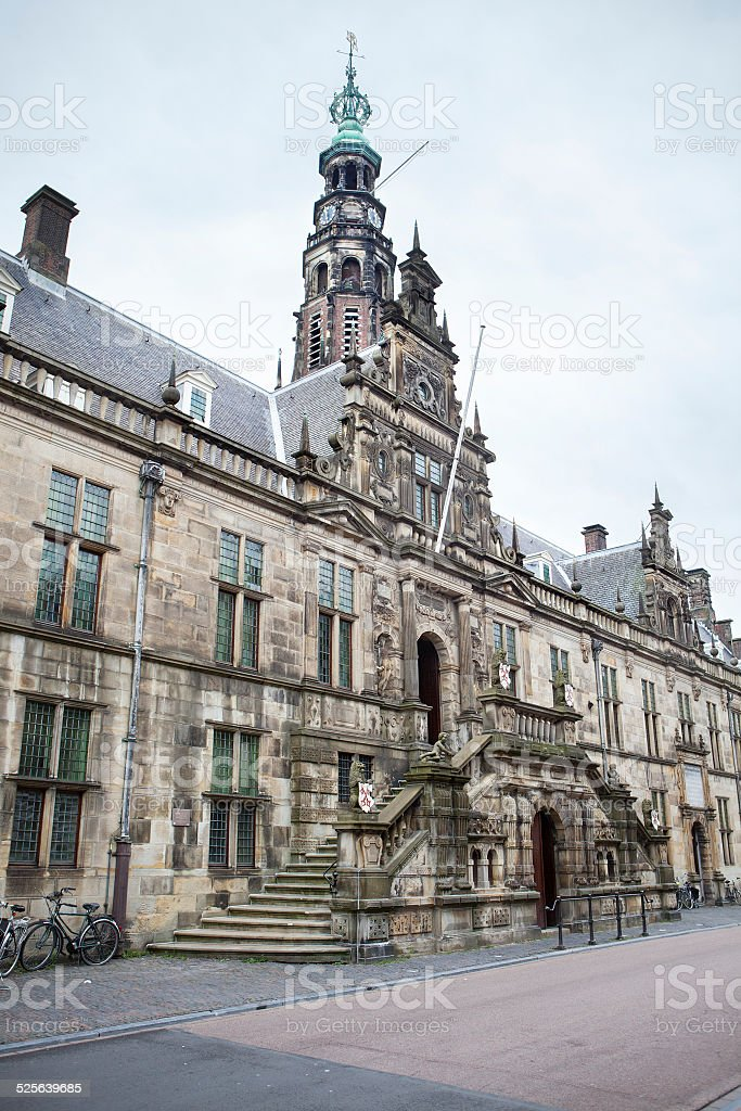 Leiden, The Netherlands - town hall stock photo
