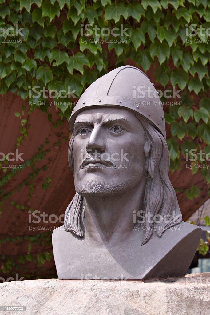 Leif Ericson Bust stock photo