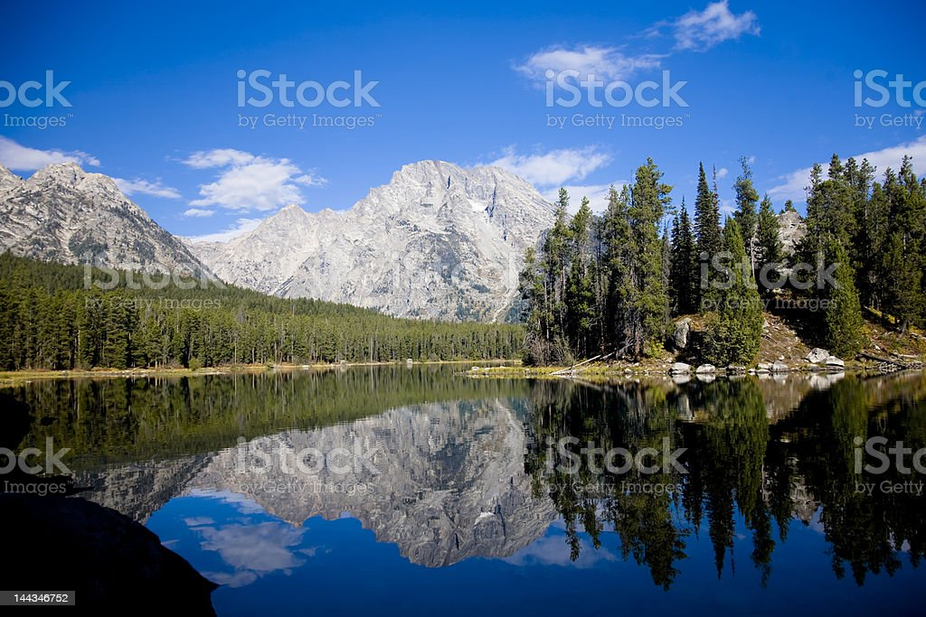 Leigh Lake in Wyoming royalty-free stock photo