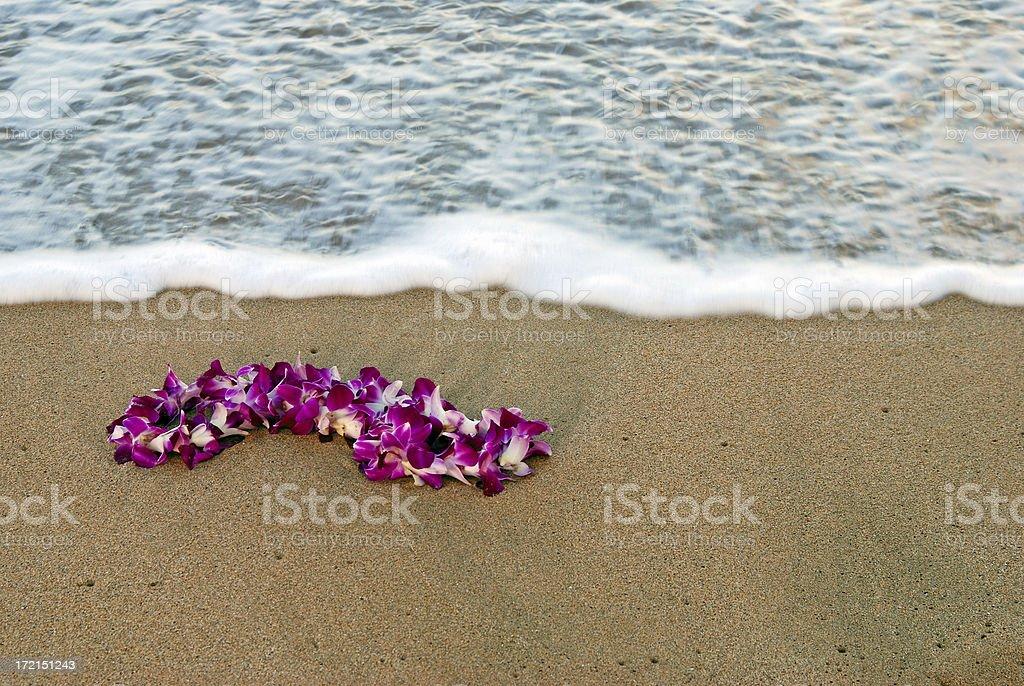 Leing on the Beach #2 stock photo