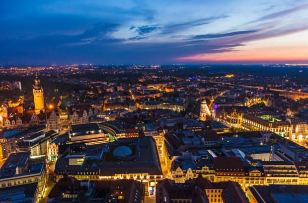 Leipzig bei Sonnenuntergang – Foto