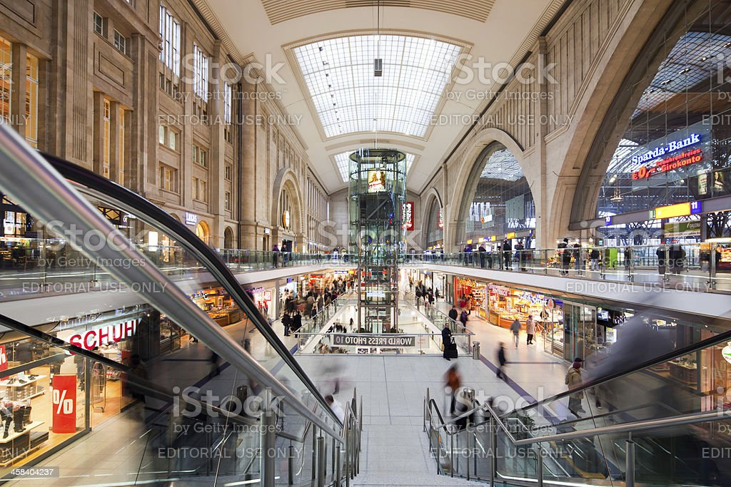 Leipzig Central Station, Germany stock photo