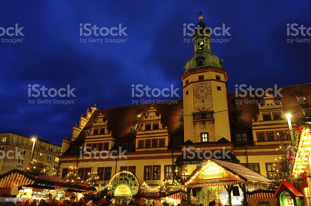 Leipzig christmas market stock photo