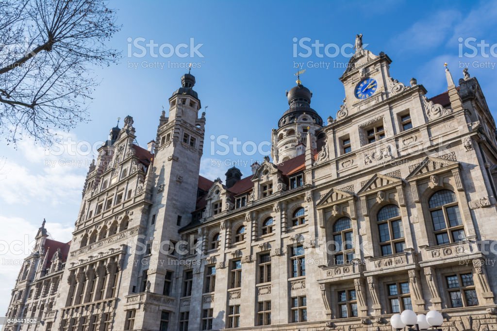 Leipzig extérieur Altes Rathaus Conseil ville gouvernement Allemagne Europe Architecture bâtiment Facade pendant la journée - Photo