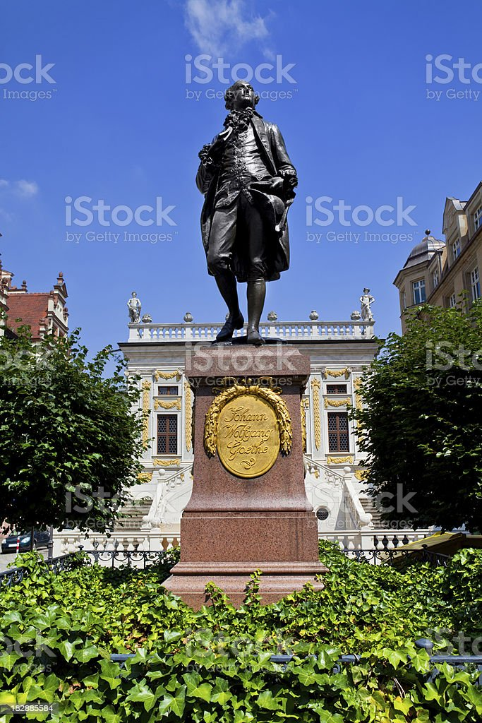 Leipzig, Goethe Monument royalty-free stock photo
