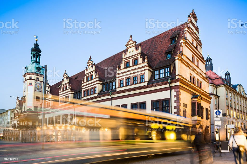 Leipzig, Old Town Hall stock photo