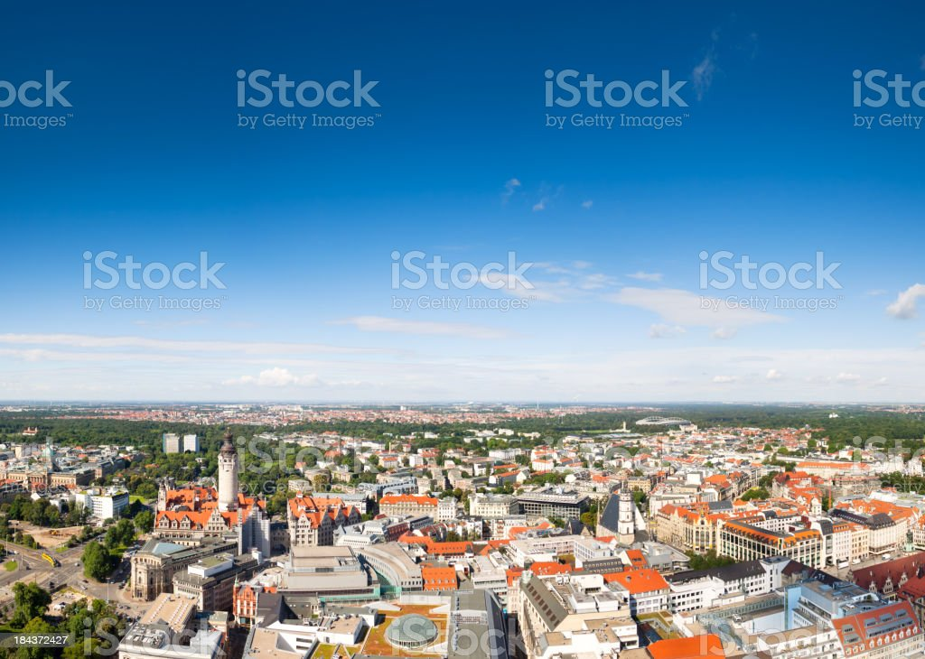 Leipzig Panorama, Germany royalty-free stock photo