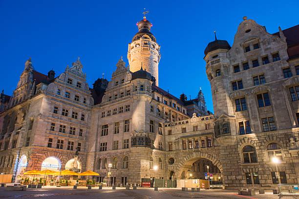 Leipzig, Town Hall stock photo