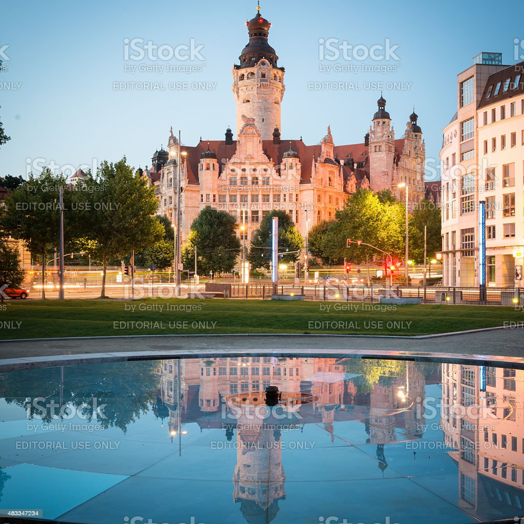 Leipzig, Town Hall stock photo