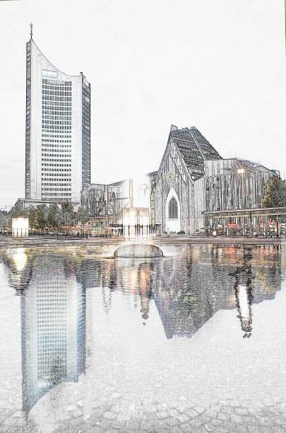 leipziger tower - havadi-nagy stock-fotos und bilder