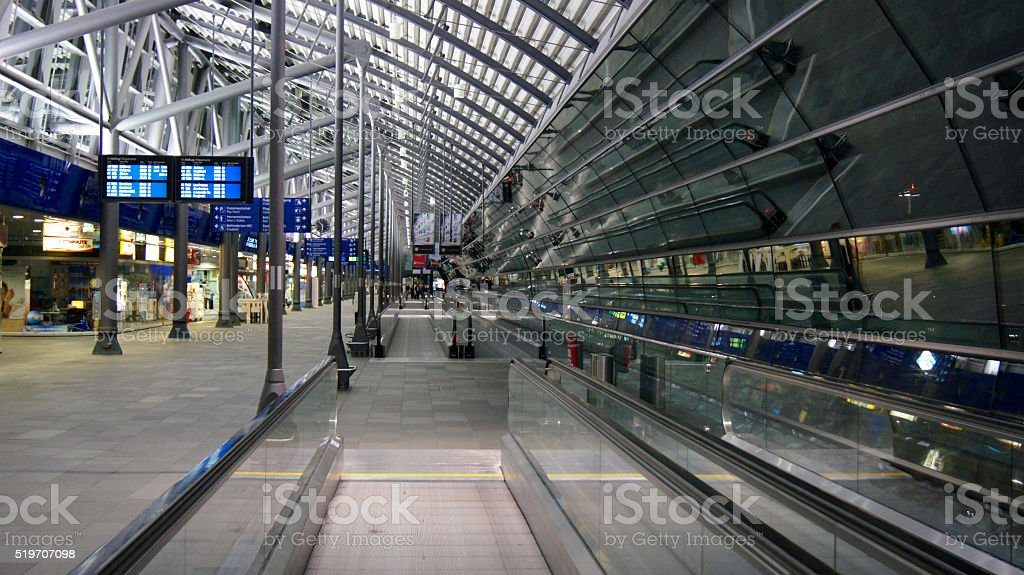 Leipzig/Halle Flughafen Terminalgebäude (Airport Terminal) stock photo