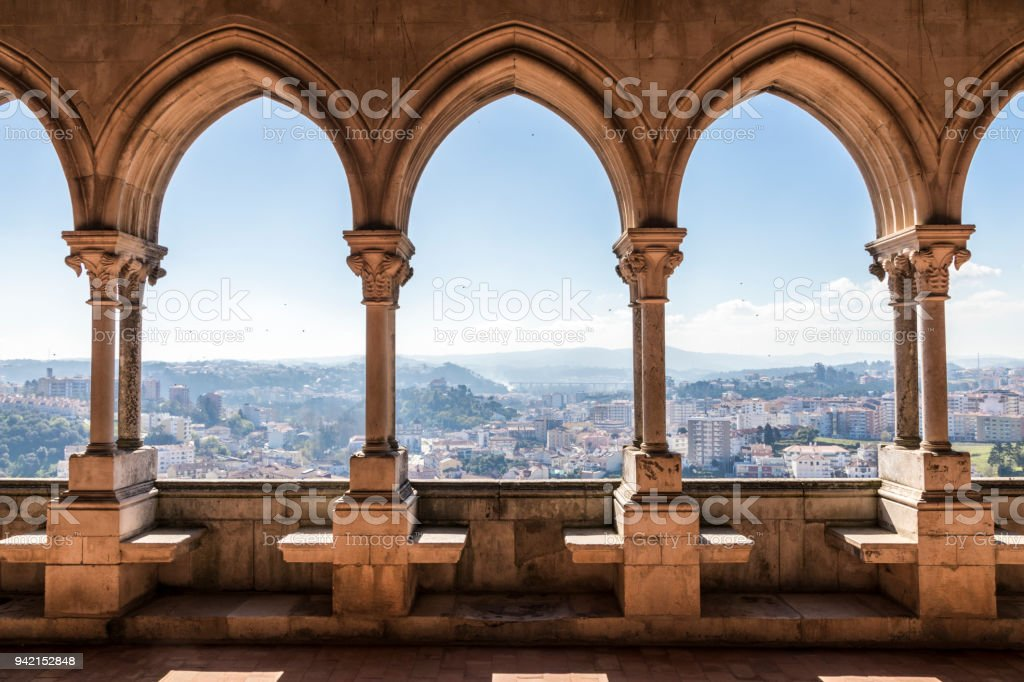Leiria Castle, Portugal stock photo