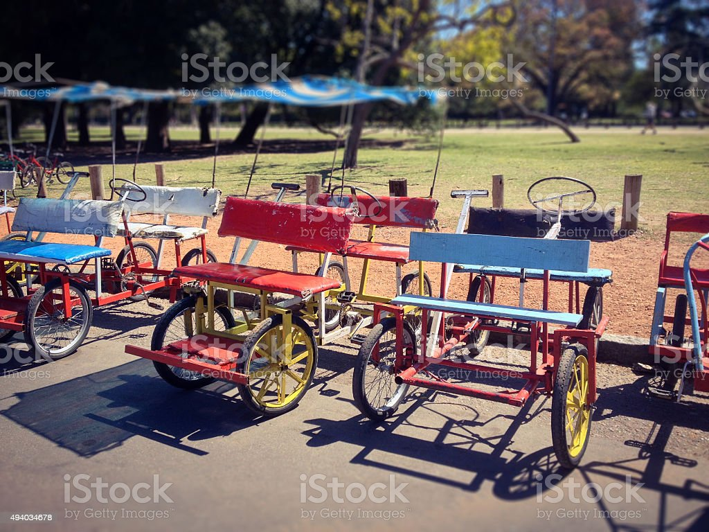 Leisure karts stock photo