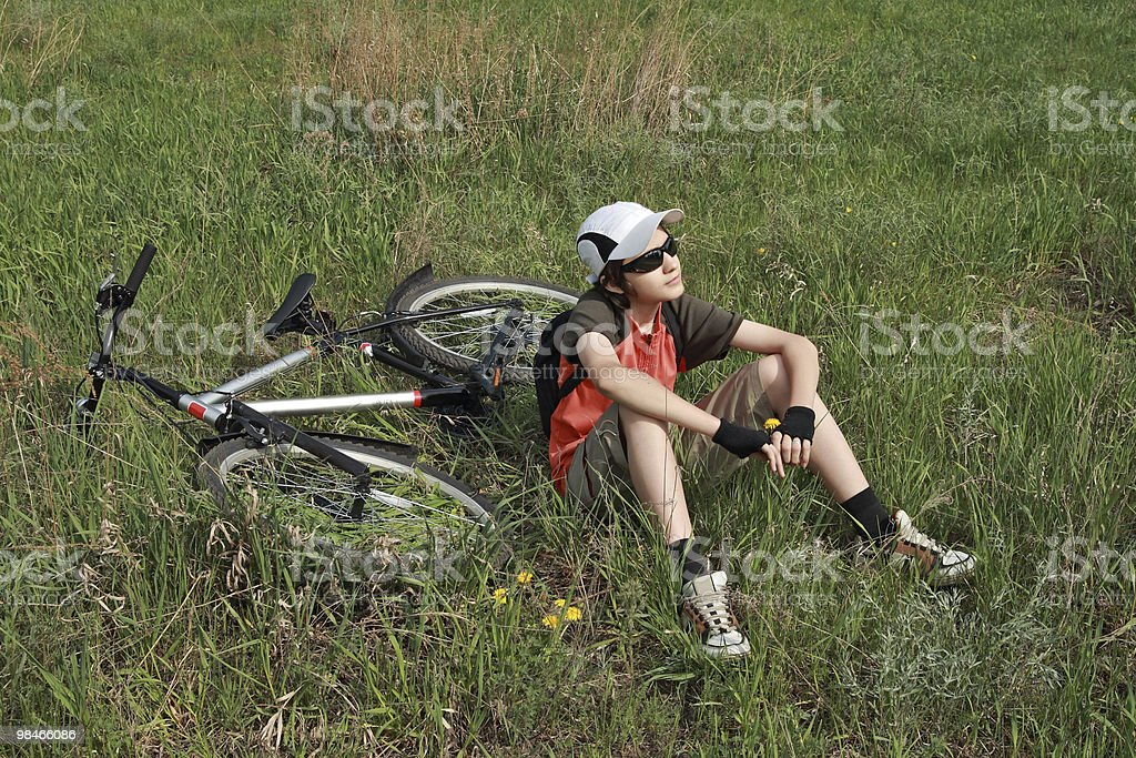 Leisure of the bicyclist royalty-free stock photo