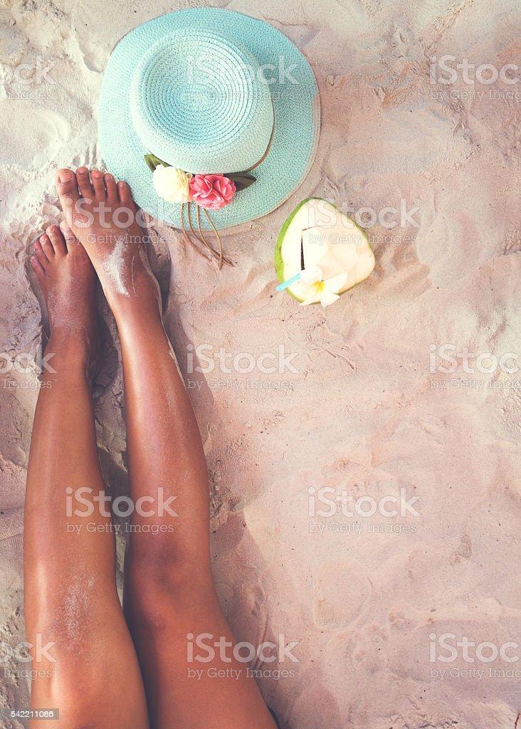 Leisure on beach stock photo