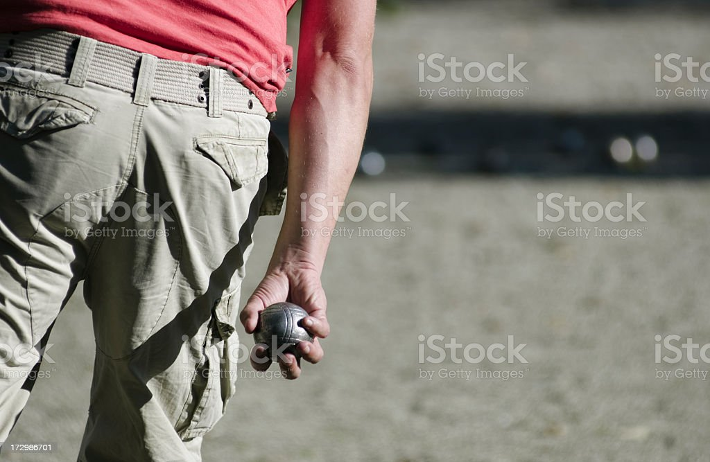 Leisure; Playing petanque royalty-free stock photo
