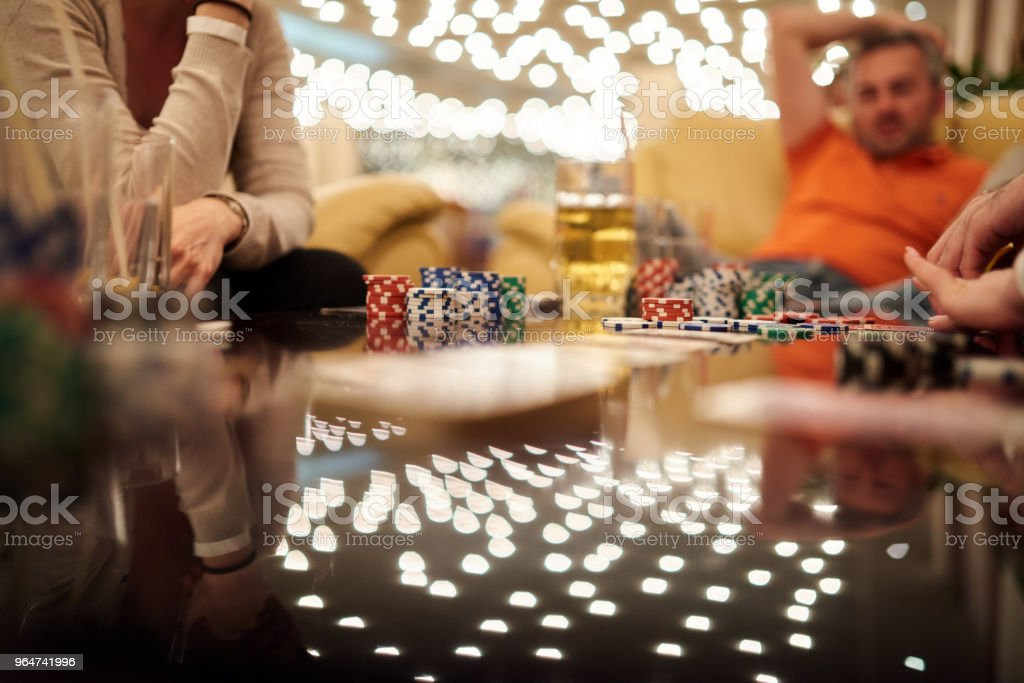 leisure poker game royalty-free stock photo